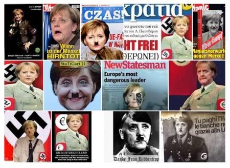 Merkel als Hitler