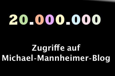 20 Mio Zugriffe