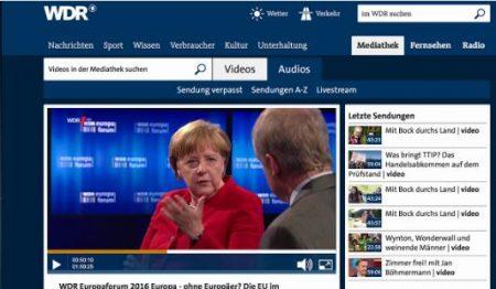 Merkel im WDR