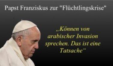 Papst Franziskus arabische Invasion
