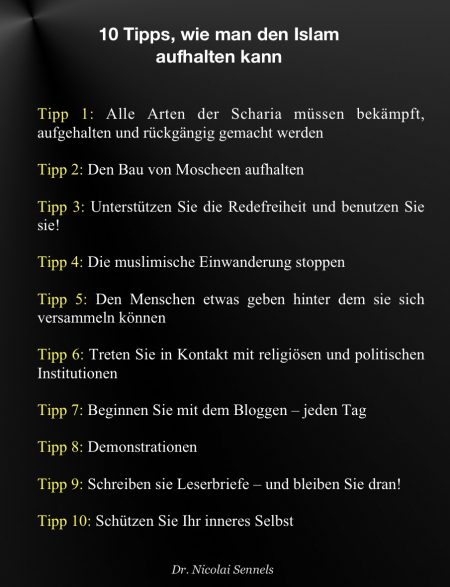 Tipps wie man den Islam aufhalten kann