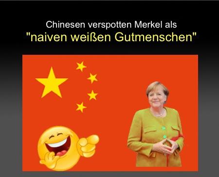 """Chinesen verspotten Merkel als """"Baizuo"""": Als naiven weißen Gutmenschen"""