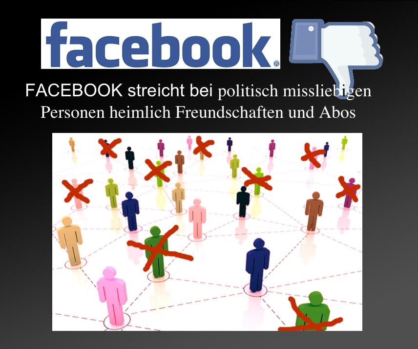 Faceboo streicht heimlich Freunde und Abos