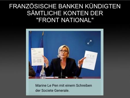 """""""Banken-Fatwa"""": Kein Konto mehr für Marine Le Pen und den FN"""