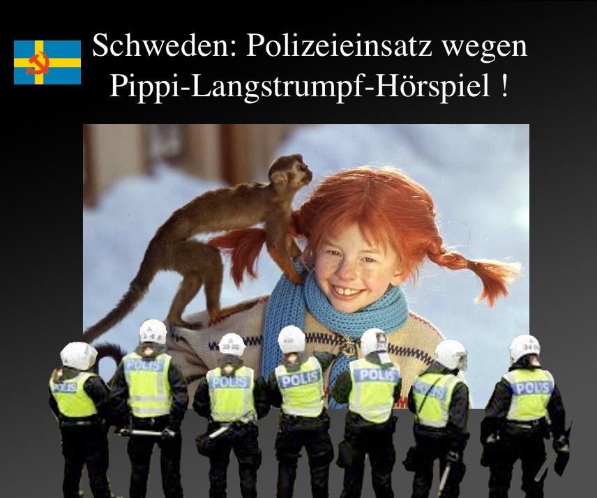 Schweden: Polizeieinsatz wegen Pippi-Langstrumpf-Hörspiel