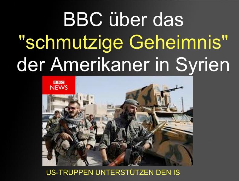"""BBC über das """"dreckige Geheimnis von Raqqa"""": Amis evakuierten  4.000 - ISIS-Krieger und ihre Familien"""""""