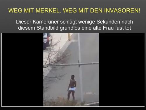 Nürnberg: Mann aus Kamerun schlägt Rentnerin auf Straße fast tot. STASIbook löscht den Bericht.