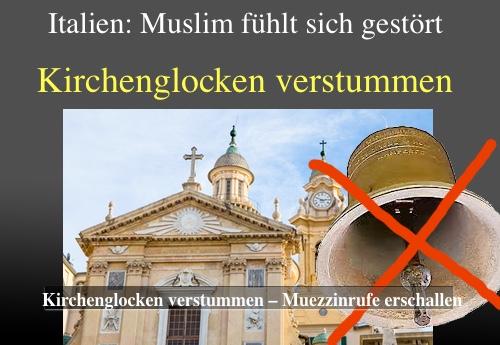 Italienischer  Muslim fühlt sich gestört – Kirchenglocken verstummen: So gehen große Zivilisationen unter....