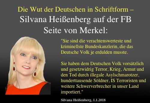 """Sensationeller Brief der nun arbeitslosen Schauspielerin Silvana Heißenberg an Merkel: """"Sie sind die verachtenswerteste und kriminellste Bundeskanzlerin, die das Deutsche Volk je erdulden musste!"""""""