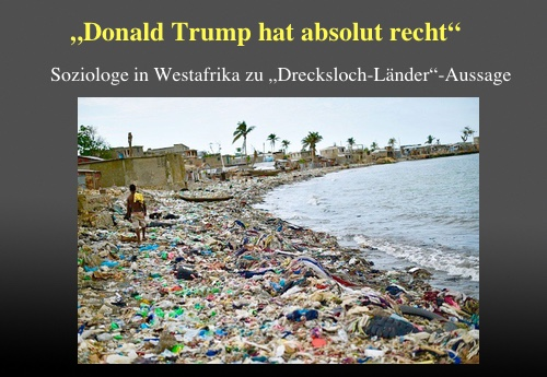 """Soziologe in Westafrika zu """"Drecksloch-Länder""""-Aussage: """"Donald Trump hat absolut recht"""""""