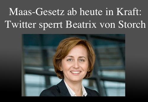 Afbeeldingsresultaat voor Beatrix von Storch gesperrt twitter