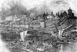 Кремль в конце XV века. Акварель А.М.Васнецова