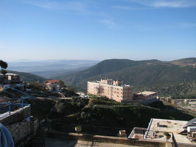 Цфат, вид на Верхнюю Галилею