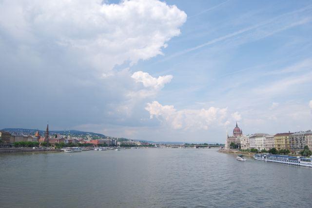 Дунай, вид с Цепного моста