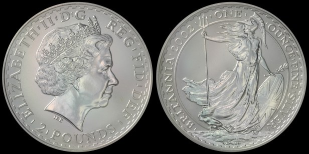 2002. 'Standing Britannia.' PCGS MS69 Acquired: 03 JUN 2007