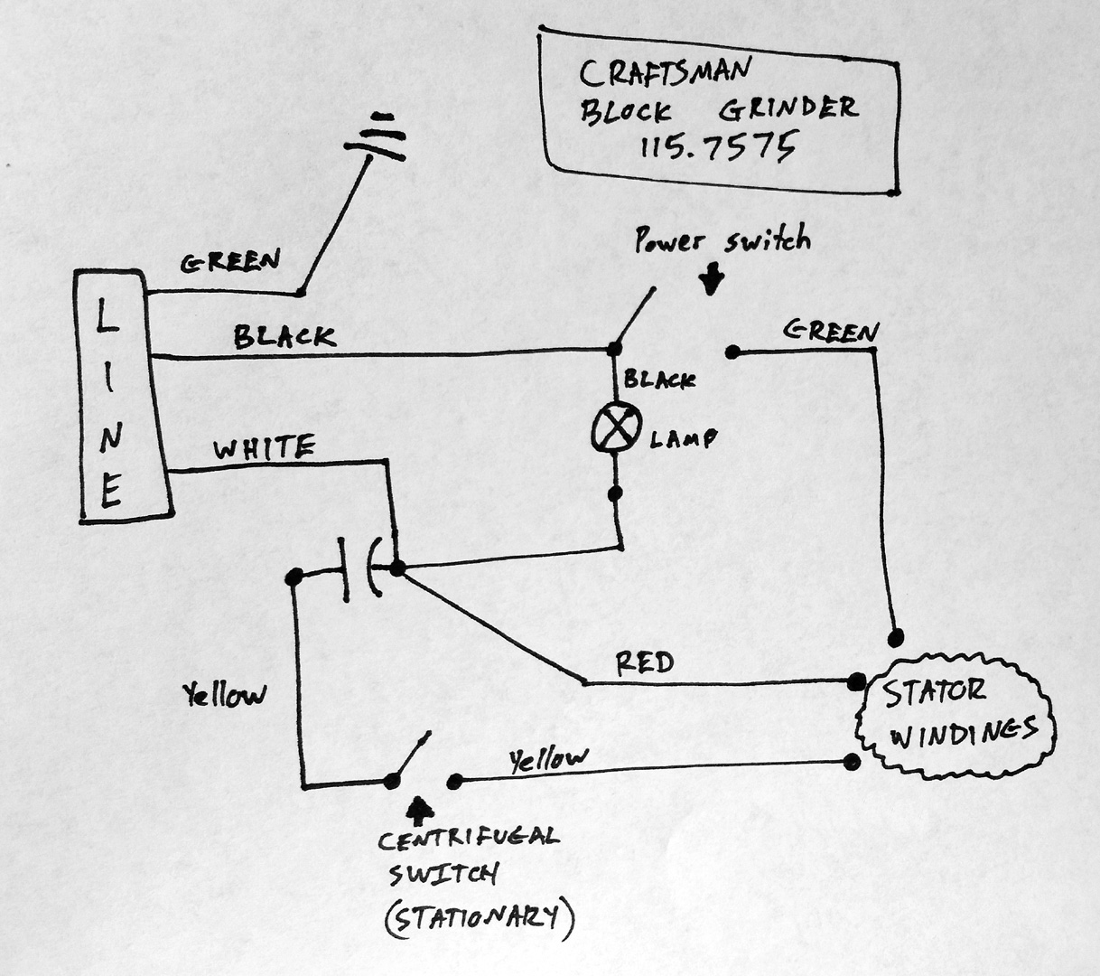 "wiring diagram for grinder wiring diagram Bench Grinder Wiring Diagram i have a galaxy bench grinder 6"" on"