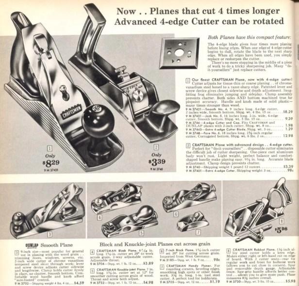 1960 Craftsman catalog, showing the Sargent-made Craftsman 3732.