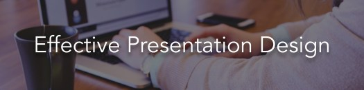 presentation design banner. click here to view the information on effective presentation design training