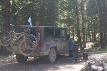 My Jeep. This was on Stephane and my adventure off-road across Canada. Canada someplace.