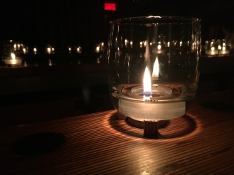 This was from a speakeasy in Montreal. The bar was elaborately designed with a shared set of fuel basins for these lanterns.