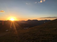 Sunset on the continental divide.