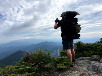 Jeff doing some wonderful photography on our backpacking adventure in NH.