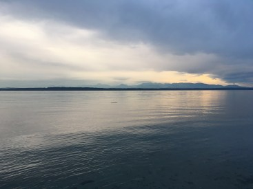 This view was from a park in Seattle.