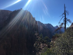 Heading to Angel's Landing in Zion.