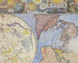Map of the Heavens and the Earth, 1699