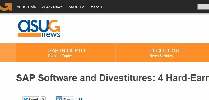 ASUG News:  SAP Divestitures Lessons Learned