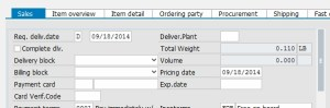 Sales Order Requested Delivery Date and Pricing Date