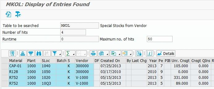 SAP Inventory Tables - Michael Romaniello