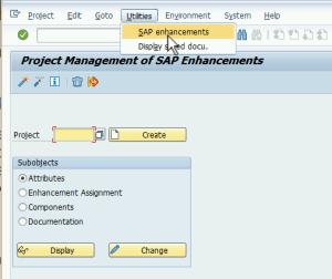 SAP Transaction CMOD