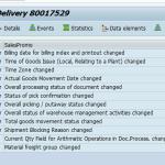 Delivery - Program WSCDSHOW_ALV - non-detail view (ALV)
