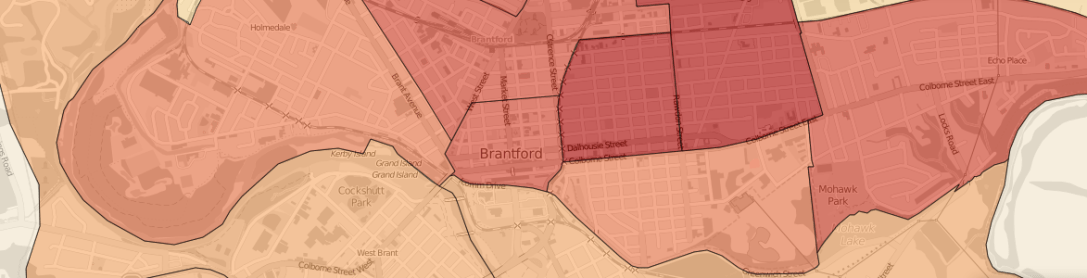 2011 Population Density, Brantford, Ontario