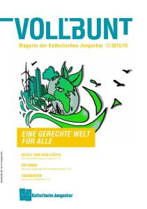 Cover; Voll.bunt - Magazin der Katholischen Jungschar; Ausgabe 02 2015/16;