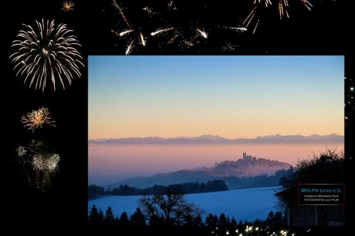 6D – Prosit Neujahr 2017! / Happy new year 2017! – Stimmungsbilder: Neujahrsfeuerwerk in Bildern & Landschaftsfotografie am Neujahrstag