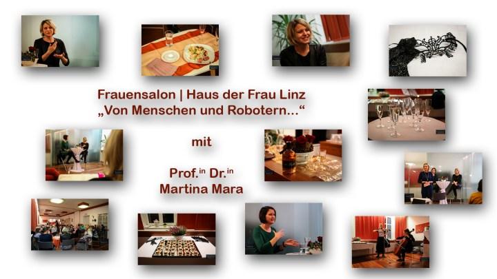 """6D/Fotostrecke: Frauensalon mit Prof.in Dr.in Martina Mara: """"Von Menschen und Robotern…"""", 16.11.2018 – Fotografie für Haus der Frau Linz"""