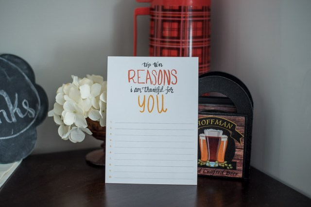 I'm Thankful For You | Hand Lettering Project