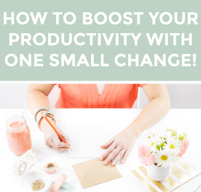 One Small Tweak to Boost Your Productivity