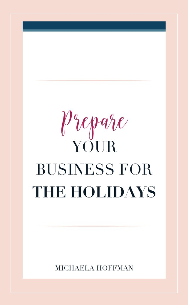 Are you a small business owner or online entrepreneur who would like to take a little time off during the holidays? Sound like a luxury you can't afford? Read my article on how to prepare your business for the holiday so that you can spend time with family and friends. They only catch is you have to start preparing now! Read the full article