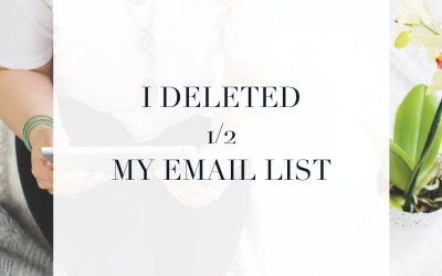 Why I deleted 1/2 my email list…