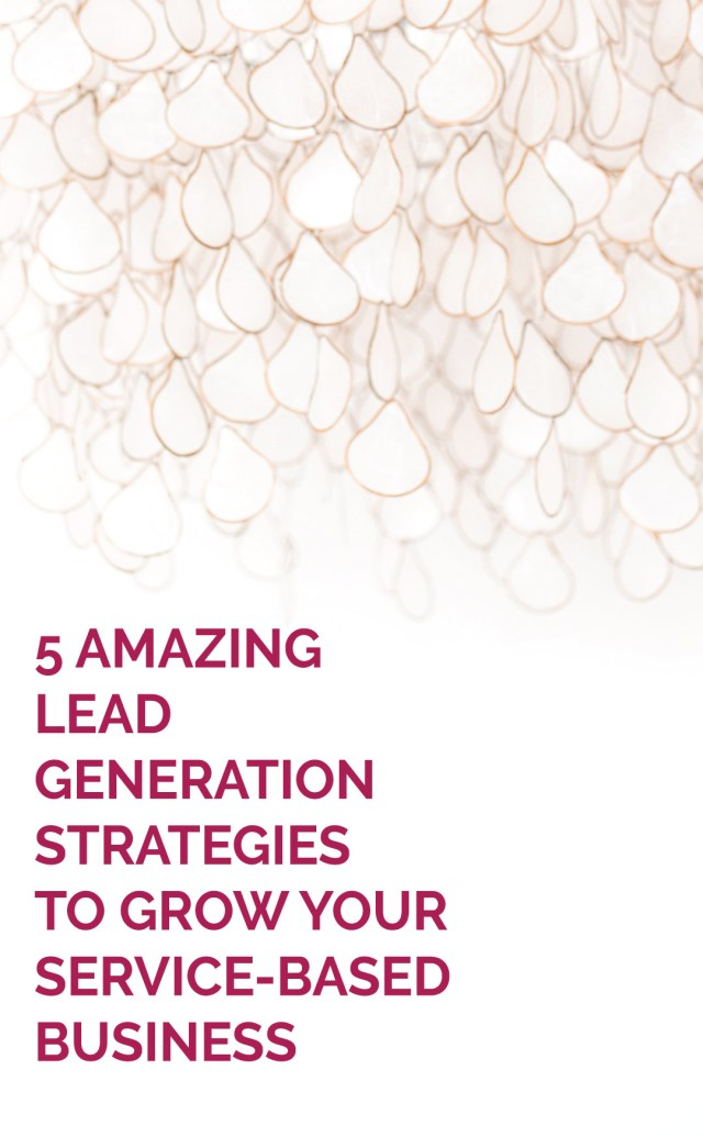 Raindrop jewelry hanging from celing - 5 Amazing Lead Generation Strategies to Grow Your Business