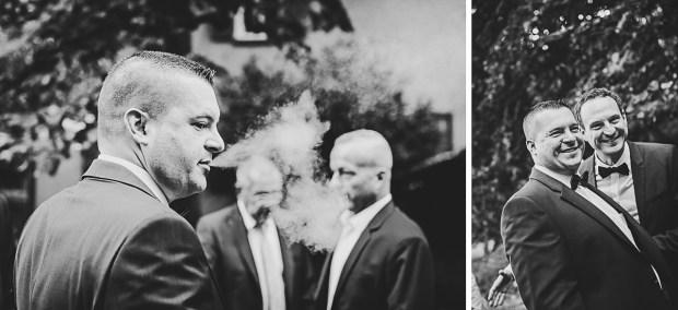 Bräutigam Foto Hochzeitsfotos Reportage Dokumentation Fotograf Lachen