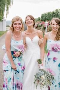 Brautjungfern Trauzeugin Hochzeitsreportage Bridal Party Weinguthochzeit Michaela Klose
