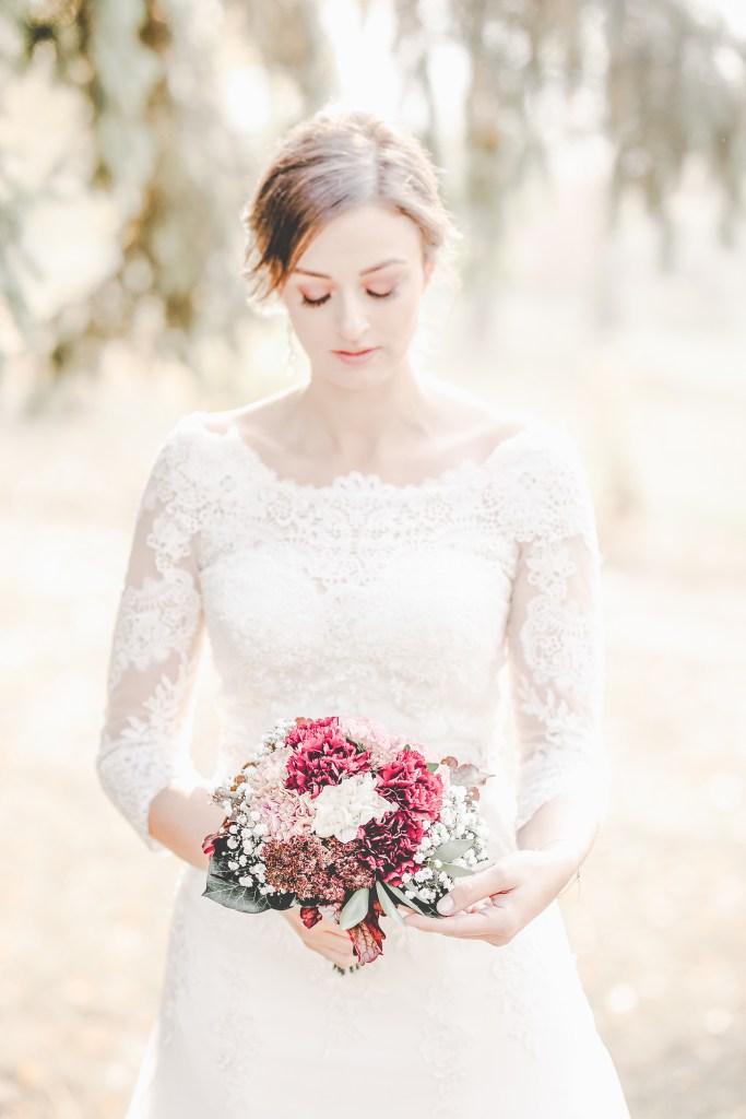 Braut im Herbst Herbstfarben