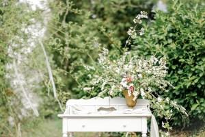 Gartenhochzeit Gartentisch Gartendeko Michaela Klose