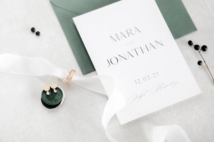 Papeterie zur Hochzeit Hochzeitseinladung