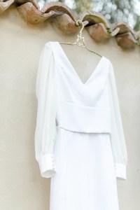 Modernes Brautkleid von Designerin Sandra Nymphius