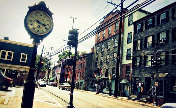 the clock on main street